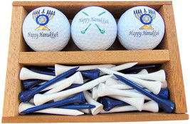 Westmon Works Happy Hanukkah Golf Gift Set Menorah and Clubs Set of 3 Balls - £11.76 GBP