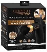 Copper Fit Percussion Massage Gun w/ 4 attachments, Cordless, Rechargeab... - £36.15 GBP
