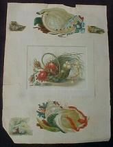 Vintage Page Reward Of Merit and Die Cuts - $0.99