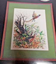 ARTISTE PHEASANTS CROSS STITCH KIT 1088426 Birds Nature Zweigart - $16.99