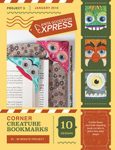 Anita Goodesign Express Corner Creature Bookmarks Embroidery CD (CD ONLY) - $10.39