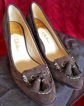 Cole Haan Calista Air Wedge Dark Chocolate Brown Suede Size 9B $266.20 MSRP NIB - $186.99