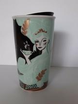 Starbucks Mermaid Siren 2018 Ceramic Travel Tumbler Cup 12 fl.oz with Lid - $40.00