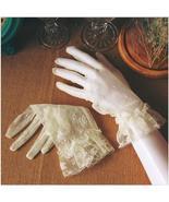 Short Wedding Gloves Bridal Gloves Mesh Lace Decoration - $6.99