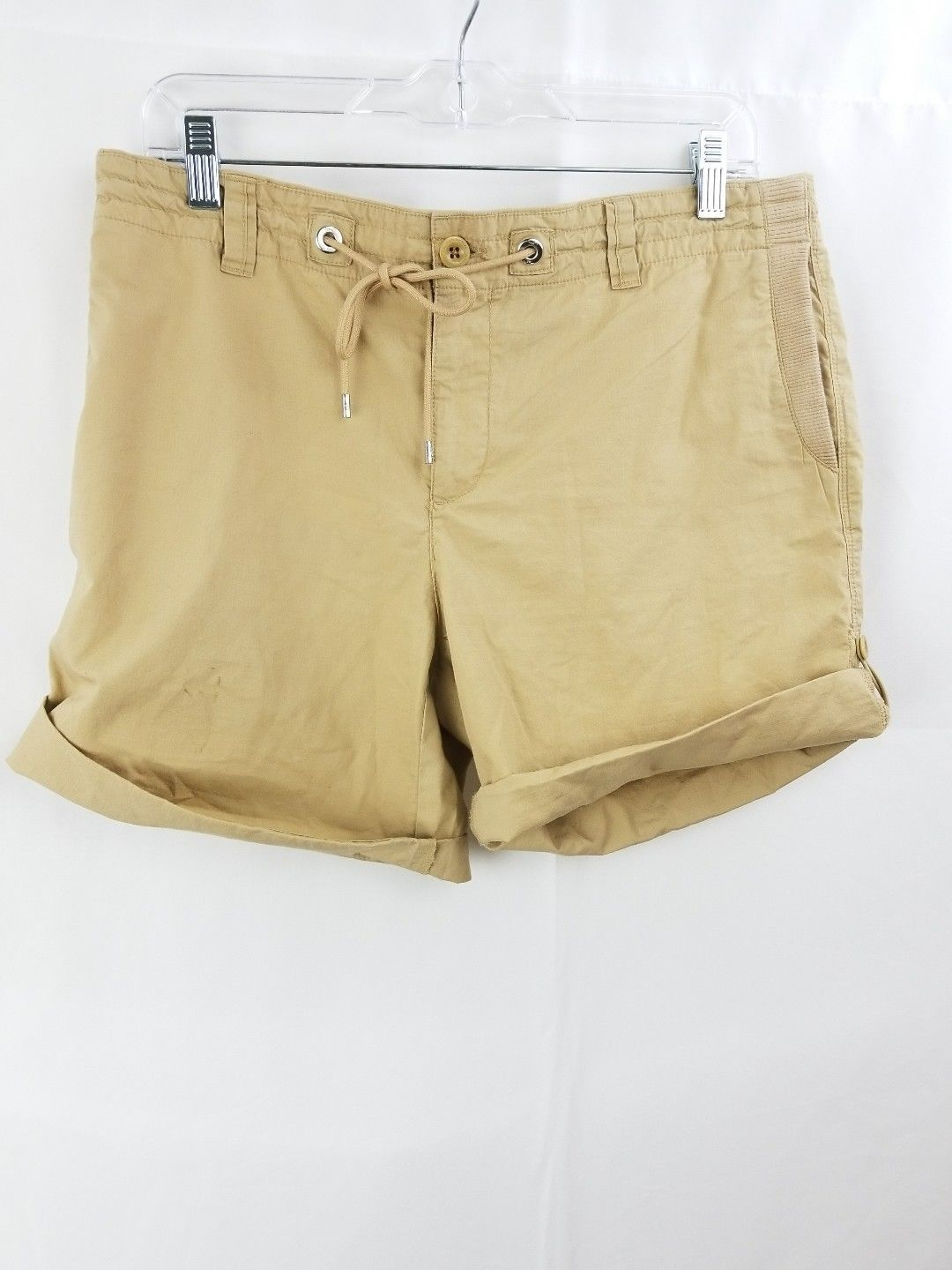 Womens Lauren active ralph lauren bermuda shorts sz 8 khaki stretch - $9.99