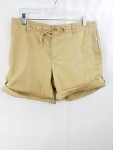 Womens Lauren active ralph lauren bermuda shorts sz 8 khaki stretch - $9.99