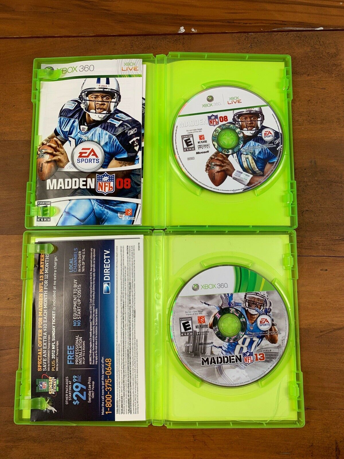 Xbox 360 4 Game Lot Madden Football Video Game Bundle Tested image 3