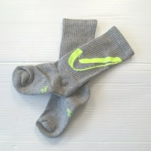 Nike Boys Everyday Cushioned Crew Socks - SX6955 - Light Gray - Size M - NEW - $4.99