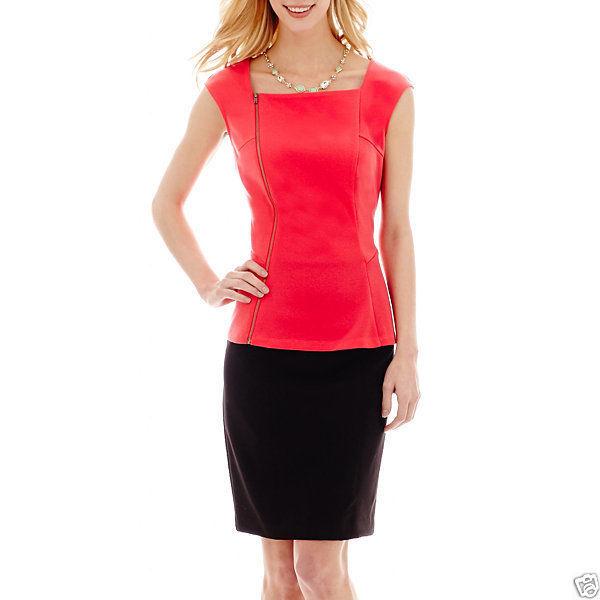Worthington Modern Seamed Pencil Skirt Size 12P, 16, 18 Black