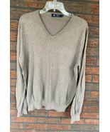 J Crew Beige Cotton/Cashmere V-Neck Sweater Large Soft Tan Pullover Card... - $19.60