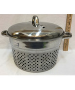 Strainer Insert for Pan Pot Steamer Tray Vented Lid 4 Piece Set Stainles... - $49.45