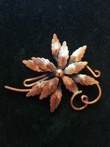 VINTAGE Matisse RENOIR Signed RARE Copper Flower Pin Brooch - $54.45