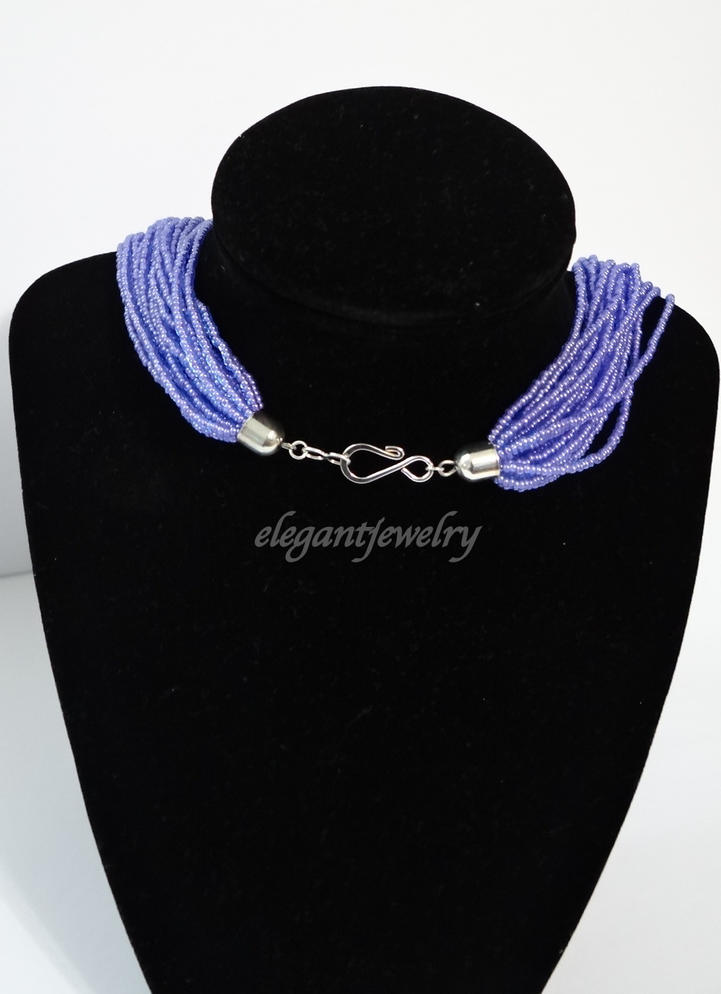 PURPLE SEEDBEAD NECKLACE
