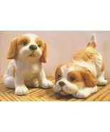 HOMCO Cocker Spaniel Puppy Dog 1990 Porcelain Bisque Figurine Lot TAKE M... - $19.75