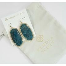 Kendra Scott Danielle Aqua Blue Apatite Gold Tone Drop Earrings NWT - $83.66