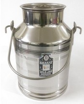 Stainless steel milk oil liquid storage can jug pot for dairy farm 7.5 l... - $61.75