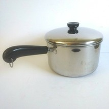 Revere Ware 4 Quart 87 Clinton Illinois Sauce Pan All Stainless Steel with Lid - $29.67