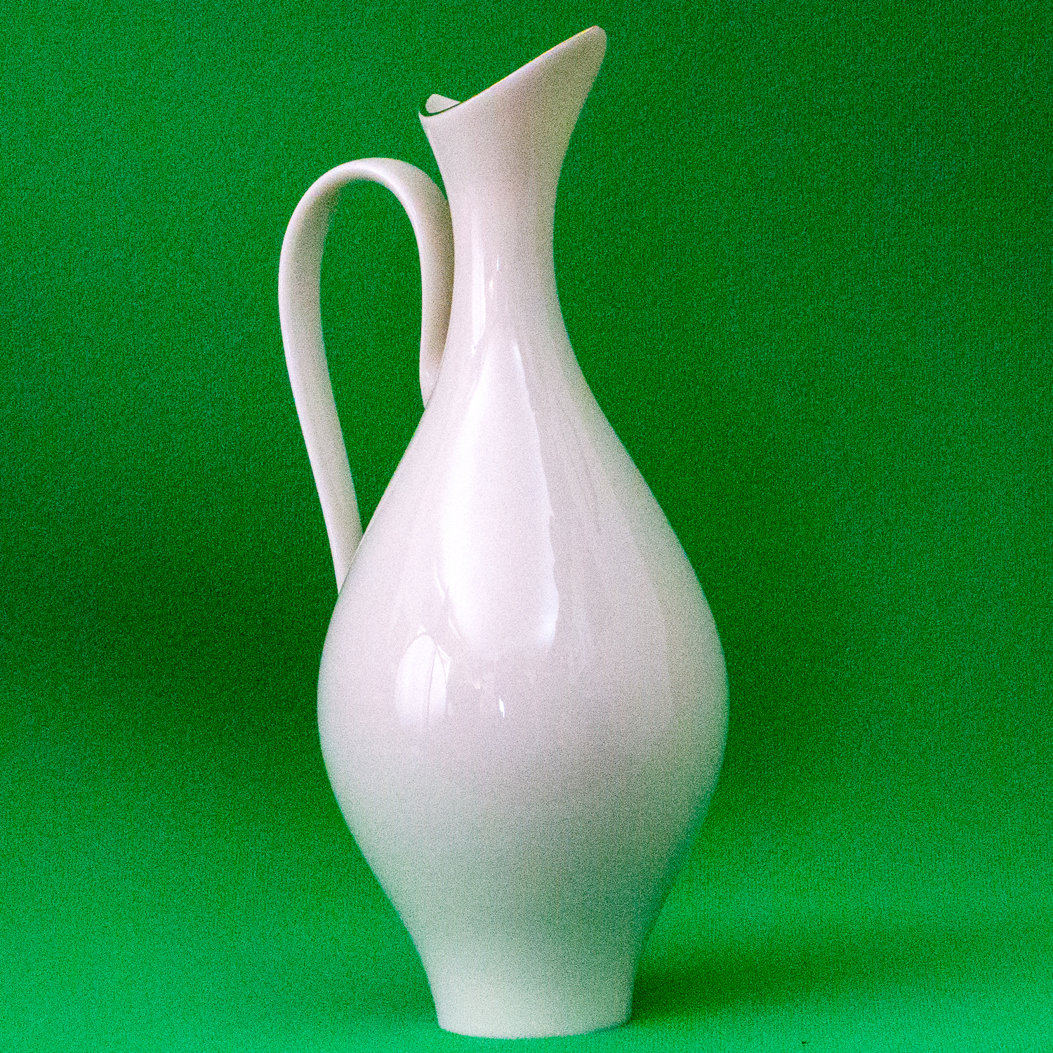 "Vintage (1960s?) Hand-Decorated (With 24K Gold) Lenox 9"" Ivory Porcelain Pitcher"