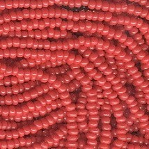 11/0 Seed Bead Rocaille Full Hank Red 5 - $11.95