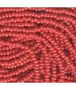 11/0 Seed Bead Rocaille Full Hank Red 5 - $7.99