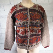 Womans Wool Sweater Woolrich Button Down Size M - $19.79