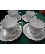 Beautiful Collectible JOHANN HAVILAND Bavaria BLUE GARLAND-Set 4 CUPS & ... - $13.57