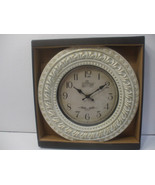 12 Inch Clock Wall Mounted Battery powered White Plastic Frame - $10.67