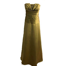 Davids Bridal Formal Dress Strapless Olive Green Bridesmaid Prom Womens ... - $34.64