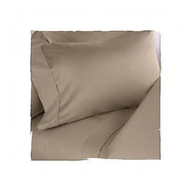Sferra Elyse Taupe Standard Pillowcases 100% Egyptian Cotton Solid Italy... - $84.00