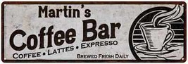 Martin's Coffee Bar Chic Sign Home Kitchen Décor Gift 6x18 6180007289 - $26.95+