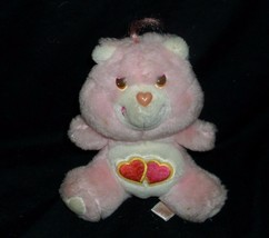 """6"""" VINTAGE LOVE A LOT PINK RED HEARTS CARE BEARS STUFFED ANIMAL PLUSH DO... - $12.47"""