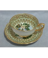 Windsor England Bone China Romantic Couple Cup and Saucer Set  - $44.55
