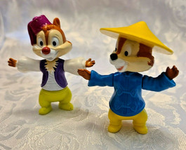 "Walt Disney Epcot Center CHIP AND DALE CHIPMUNKS 2"" PLASTIC FIGURES"