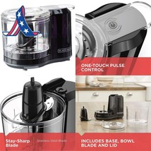 Black+Decker 1.5-Cup Electric Food Chopper, Improved Assembly, Black, Hc... - $17.81+