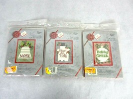 Lot of 3 Golden Bee Cross Stitch Kits Holiday Themed with Frames  New Sealed - $12.34