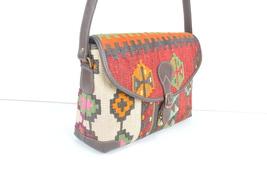 kilim bags ,rug bags,bag,Old handbag,rug Postman's bag ,rug Leather Han... - $195.00