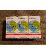 3x Major Natural Balance Tears Dry Eyes 15 mL Eye Drops 11/2020 Relieves... - $18.21