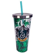 Harry Potter Slytherin Green Glitter 20 oz Acrylic Double Walled Tumbler... - $24.95