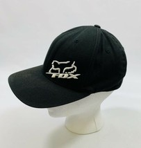 Fox Racing Size Small Medium Black White Brimmed Hat Baseball Cap Snapback - $12.19