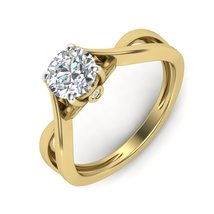 Solid 925 Sterling Silver Ring Engagement Ring Proposal Ring Eternity Ri... - $159.99