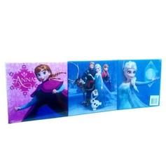Disney Frozen Set of 3 Wall Canvas Art 9.84in X 9.84in Each New - $31.79