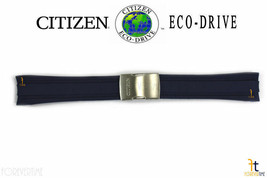 Citizen Eco-Drive AT4009-08L 24mm Blue Rubber Watch Band Strap 4-S077729 - $129.95