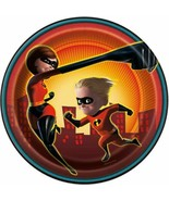 """Incredibles Party 8 Ct Paper 7"""" Dessert Cake Plates - $4.35"""