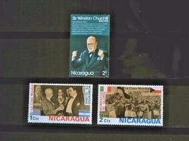 Nicaraqua Set of 3 Stamps MINT -canceled - MNH Free Shipping # 002120 - $1.68