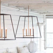 """24.5"""" H Indoor Lantern Pendant Chandelier Open Cage French Rustic Farmhouse Chic - $533.61"""