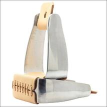 Hilason Western Tack Horse Leather Stiched Silver Aluminium Saddle Stirrups U-21 - $61.95