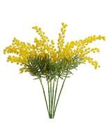 Jasming 6pcs Artificial Albizia Julibrissin Fake Acacia Yellow Flowers M... - ₹2,650.97 INR