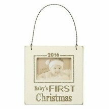 "Baby's First Christmas 2016 2"" x 3"" Wood and Metal Horizonal Display Fra... - $19.59"