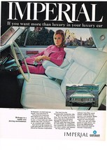 Vintage 1968 Magazine Ad Chrysler Imperial If You Want More Than Luxury in Car - $5.93