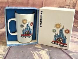 New! Starbucks Disney Parks 45TH Magic Kingdom Anniversary Castle Ceramic Mug - $14.24
